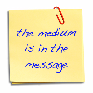 medium in the message - try a new communication method image